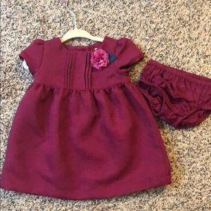 Gorgeous burgundy dress for your little girl!